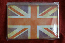 UK Flag Retro Tin Metal Sign Painted Poster Comics Book Superhero Wall Decor Art