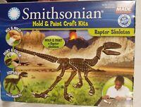 Smithsonian Mold and Paint Craft Kit Raptor Skeleton New American Made NIP