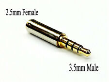 Gold Plated 3.5mm Male to 2.5mm Female Headphone Audio Adapter Jack Stereo Mono