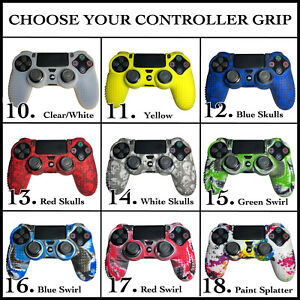 PS4 Grips Silicone Rubber Skin Case Cover For Sony Playstation 4 Controller USA