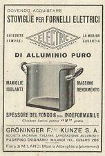 W3575 Stoviglie per Fornelli Elettrici ELECTRIC - Pubblicità 1933 - Advertising