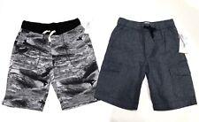 New Old Navy Boys Size 8 Medium M Shorts Lot 2 Pairs Drawstring Gray Black Blue