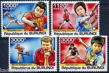 Table Tennis, Sports, Wang hao, Guo, Werner, Burundi 2011 MNH 4v