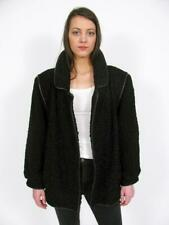 WOW! BLACK PERSIAN LAMB FUR KARAKUL SWAKARA TEDDY BOMBER LEATHER JACKET COAT~M/L