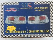 Honda Civic Tail Lights Set 96 - 2000 2 Door Euro Chrome Green Brake Lamp