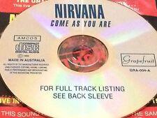 Nirvana Come As You Are Aust. Live CD Rare Kurt Cobain Smells Like Teen Spirit
