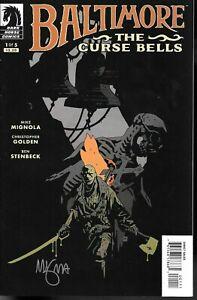 Baltimore the Curse Bells #1 signed Mike Mignola HELLBOY CREATOR Dark Horse