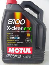 Motul 8100 X-Clean 5W30 EFE Motoröl 5W-30 BLW LL04 Öl Benzin Diesel 5Liter