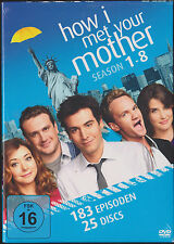 How I Met Your Mother Staffel 1 2 3 4 5 6 7 8, 1-8, 25 DVD Box, NEU & OVP