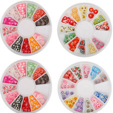 Kawaii DIY Mix Fimo Slices Polymer Clay Nail Art Stickers Manicure Decoration