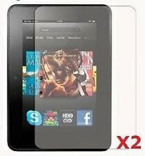 "2x Klar Displayschutz Für 7"" zoll Amazon Kindle Fire HD 1st generation"