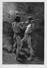 REMINGTON MEXICAN MINERS AT WORK DRILLING MEXICO MINING