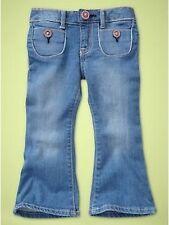 NWT New Baby Gap Girl 4 Pocket Skinny Flare Blue Denim Jeans 5T