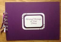 Personalised Cadbury Purple Matt*Wedding*Any Birthday*Photo Album*Guest Book