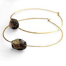 Citrine by the Stones Large Julia Hoop Earrings NWT