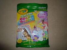 Disney Princess Crayola Color Wonder 18 Pg Coloring Pad & Markers~NEW IN PACKAGE