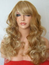 Auburn Blonde Wig Heat resistant full curly medium natural Party ladies wig M23