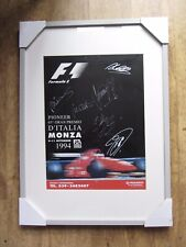 New listing Signed and framed 1994 Monza Poster, Hill, Coulthard, Irvine, Watson & Salo.