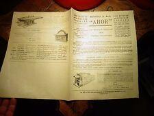 Ancien Catalogue des Machines à Bois Outils de Menuiserie Ebenisterie AHOR