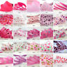 "25x1Yard Assorted Satin Grosgrain Ribbon Lot 3/8""--1.5"" Pink Theme Craft Bow-A"