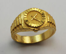 24K Solid Yellow Gold Watch Ring Band 9.2 Grams Size 8