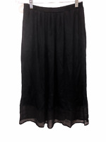 Linea by Louis Dell'Olio Women's Pull-on Knit Midi Skirt Black X-Small Size