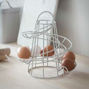 Brompton Wire Egg Run in Carbon Coated Chalk Finish by Garden Trading 23 x 18cm