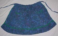 Vintage Kitchen Half Apron Blue Green Lavender 40s 2 Pockets