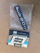 AUDI 200 PLASTIC MUDFLAP BADGE EMBLEM LOGO SINGLE ONE