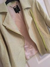 TED BAKER Lime Green And Beige Jacket Size UK10 TB2