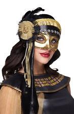 Pharaonin Venice Maske schwarz-gold NEU - Karneval Fasching Maske Gesicht
