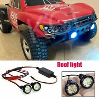1xFaros LED Proyector Luz techo+Transformador para RC Crawler Truck Monster REVO