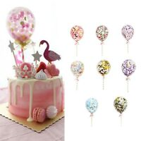 Confetti Foil Balloons 5'' 8 colour Party Birthday Wedding Cake Decor Set