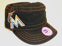 MIAMI MARLINS Womens Girls Military Cadet Hat Cap, Adjustable, MLB FREE Shipping