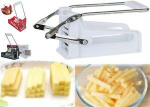 Stainless Potato Chipper French Fries Slicer Chip Cutter Chopper Maker 2 Blades