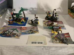 Vintage Lego pirates 6260 6234 6235 6257 With Instructions