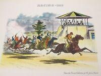 Kessler Whiskey Horse Racing-1878 Vintage advertising print Equestrian sports