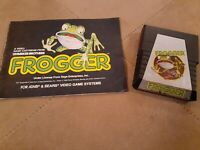 FROGGER by PARKER BROTHERS for ATARI 2600 ▪︎ CARTRIDGE AND MANUAL ▪︎