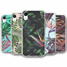 For iPhone XR Silicone Case Cover Tropical Leaves Collection 4