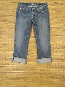 Miss Me Jeans JP4408 Low Rise Slim Fit Stretch CAPRI Cropped Leg W27xL26 Sylmar