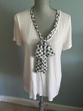 Jason Wu For Target Career V-Neck Blouse With Bow Cream/Wheels Size L