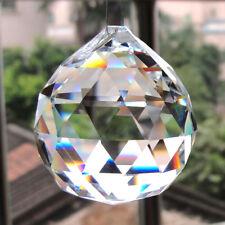 Clear Crystal Feng Shui Lamp Ball Prism Rainbow Sun Catcher Wedding Decor 40mm