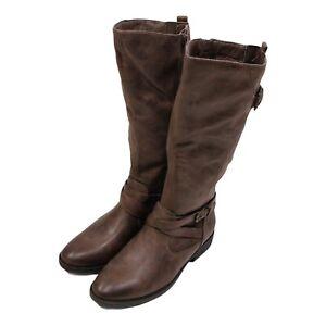 Bare Traps Alysha Closed Toe Mid-Calf Fashion Boots, Mushroom 6.0 6M NIB