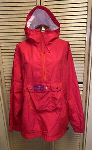 Vintage Obermeyer Men's Neon Pink Pullover Recco Jacket Size XL