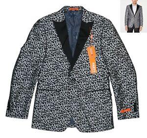 Tallia Party Collection Leopard Print Valhalla Sport Coat Blazer 38R NWT Grey