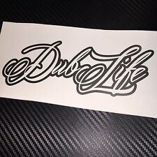 ANTHRACITE Dub Life Sticker Decal VW VDUB Beetle Bus Bug