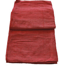 Red Natural Cotton Throw / Tablecloth - 160 x 228cm