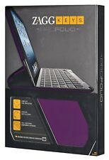 ZaggKeys ProFolio for Apple iPad 2/3/4 Gen PURPLE Case Keyboard Zagg Stand Tab