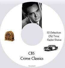 CBS Crime Classics   - 53 Old Time Detective Radio Shows - MP3 CD