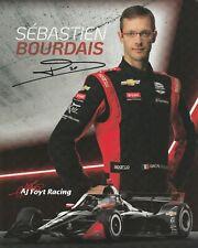 2020 SEBASTIEN BOURDAIS signed INDIANAPOLIS 500 HERO PHOTO CARD CHEVY INDY CAR